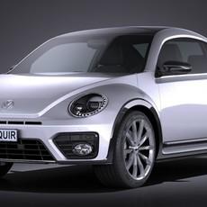 Volkswagen Beetle 2017 3D Model