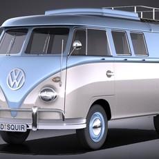 Volkswagen Transporter T1 Camper Van 1950 3D Model