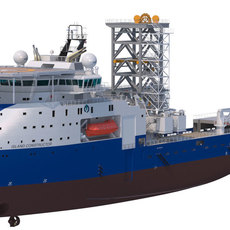 Construction and Well Intervention Vessel Island Constructor 3D Model
