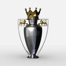 Premier League Cup Trophy 3D Model