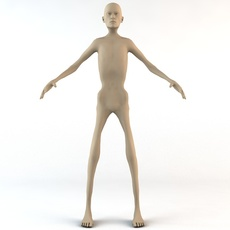 Chronically Thin Caucasian Male Human Character 3D Model