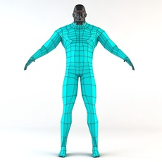 Futuristic Male Human Game Character 3D Model