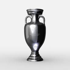 UEFA Euro League Cup Trophy 3D Model