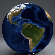 EarthGlobe 10k 3D Model