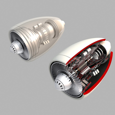 Turbine engine 02 3D Model
