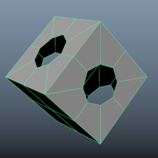 Octogonal Hole for Maya 1.0.0 (maya script)