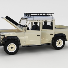 Full Land Rover Defender 110 Double Cab Pick Up rev 3D Model