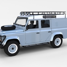 Land Rover Defender 110 Utility Station Wagon w interior rev 3D Model