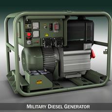 Military diesel generator 3D Model