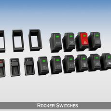 Rocker switches for vehilce 3D Model