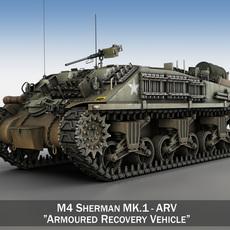 M4 Sherman ARV MK.I 3D Model