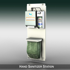 Hand Sanitizer Station 3D Model