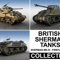 British Shermans - Collection 3D Model