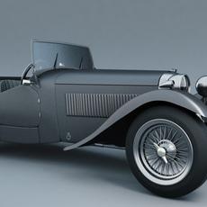 HRG Sports car 1948 3D Model