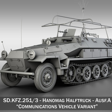 SD.KFZ 251/3 IV Ausf.A - Hanomag Radio and Command Vehilce 3D Model