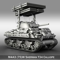 M4A3 Sherman-Calliope 3D Model