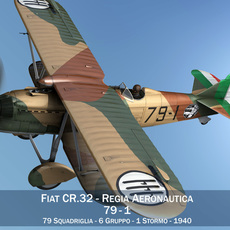 Fiat CR.32 - Italy Airforce - 79 Squadriglia 3D Model