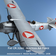 Fiat CR.32 - Austrian Air Force - Jagdgeschwader II 3D Model