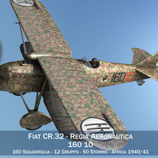 Fiat CR.32 - Italy Airforce - 160 Squadriglia 3D Model