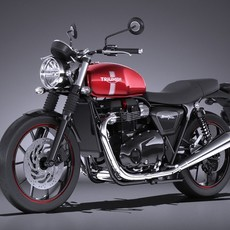 Triumph Bonneville Twin Street 2016 3D Model