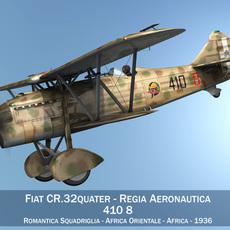 Fiat CR.32 - Italy Airforce - 410 Squadriglia 3D Model