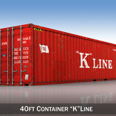 40ft Shipping Container - K Line 3D Model