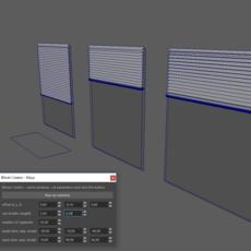 Window blinds creator for Maya 0.0.5 (maya script)