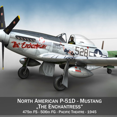 North American P-51D Mustang - The Enchantress 3D Model