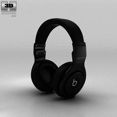 Beats Pro Over-Ear Headphones Black 3D Model