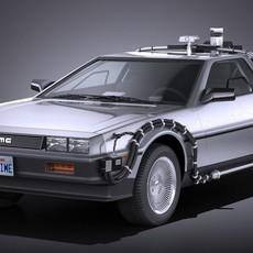 DeLorean DMC-12 Back To The Future episode 1 VRAY 3D Model