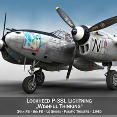 Lockheed P-38 Lightning - Wishful Thinking 3D Model