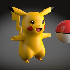 Pikachu Pokemon rigged 3D Model