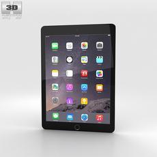 Apple iPad Air 2 Space Grey 3D Model