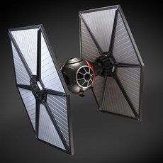 Star Wars Tie Fighter Black Squadron Special Forces 3D Model
