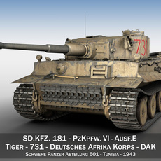 Panzer VI - Tiger - 731 - Early Production 3D Model