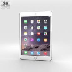 Apple iPad Mini 3 Silver 3D Model