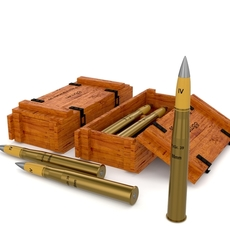 German 88mm Shell 3D Model
