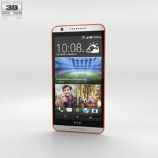 HTC Desire 820 Tangerine White 3D Model
