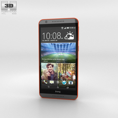 HTC Desire 820 Saffron Grey 3D Model