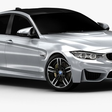 2015 BMW M3 (Low Interior) 3D Model