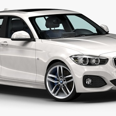 2016 BMW 1 Series 5-door 3D Model