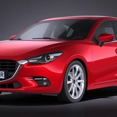 Mazda 3 hatchback 2017 3D Model