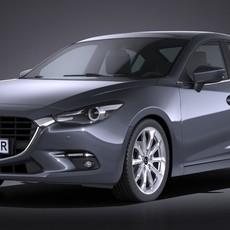 Mazda 3 sedan 2017 3D Model