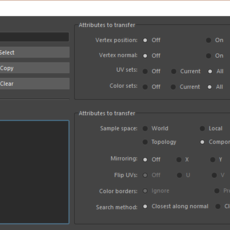 IMPROVED TRANSFER ATTRIBUTES for Maya 1.0.0 (maya script)