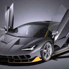 Lamborghini Centenario LP 770-4 2017 open doors 3D Model