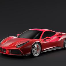 Ferrari GTB 488 2016 3D Model