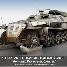 SD.KFZ 251/1 Ausf.C - Half-track - Winterkit 3D Model