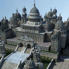 Ancient Castle 001 3D Model