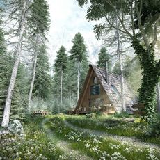 Forest wooden house 3D Model