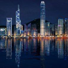 Hong Kong night sence 3D Model